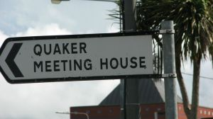 signposting to a Quaker meeting house