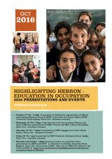 Highlighting Hebron – Education in Occupation