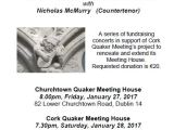 Concert in aid of Cork Meeting's extension & renovation project – Friday, January 27th